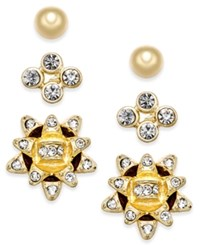 Charter Club Gold Tone 3 Pc. Bow Stud Earring Set Only At Macy