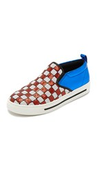 Marc Jacobs Mercer Slip On Sneakers Red White