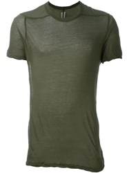 Rick Owens Twisted Edge T Shirt Green