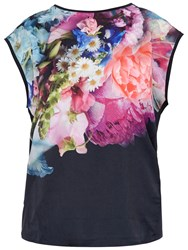 Ted Baker Verena Focus Bouquet T Shirt Dark Blue