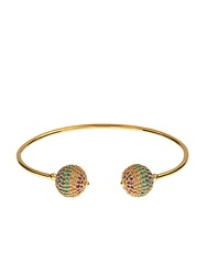 Jade Jagger Multi Stone And Gold Plated Disco Ball Bracelet