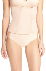 Women's Spanx 'Boostie Yay' Comfy Corset Rose Gold