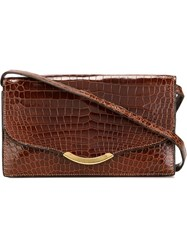 Herma S Vintage Flap Shoulder Bag Brown