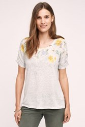 Anthropologie Beach Blossom Tee Yellow