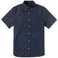 Beams Plus Short Sleeve Broadcloth Shirt Blue