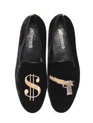 Kardinale And Gun Embroidered Suede Loafers