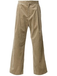 H Beauty And Youth. Wide Leg Corduroy Trousers Brown