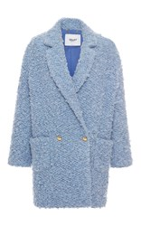 Blugirl Double Breasted Coat Light Blue