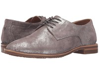 Trask Ana Pewter Italian Metallic Suede Women's Shoes Brown