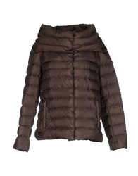Add Down Jackets Dark Brown