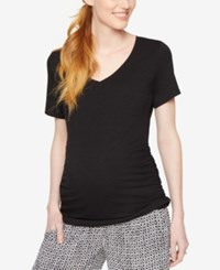 A Pea In The Pod Maternity Ruched Tee Black