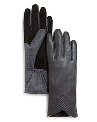 Urban Research Ur Julien Leather Tech Gloves Storm