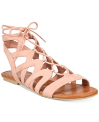 American Rag Marlie Lace Up Sandals Only At Macy's Women's Shoes Blush