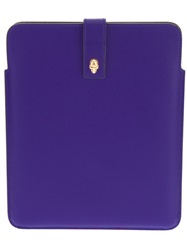 Alexander Mcqueen Skull Tablet Sleeve Pink And Purple