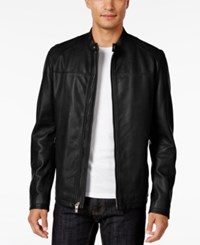 Inc International Concepts Men's Elevated Leather Moto Jacket Only At Macy's Black