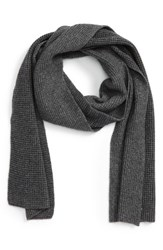 Calibrate Men's Wool And Cashmere Scarf Charcoal