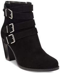 Inc International Concepts Laini Block Heel Booties Only At Macy's Women's Shoes Black