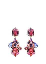 Anabela Chan 'Opals Poseidon' Detachable Gemstone 18K Rose Gold Drop Earrings Multi Colour