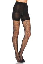 Spanx Plaid Lace Tights Black