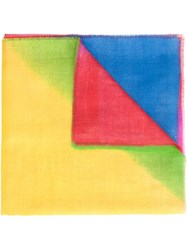 The Elder Statesman '50' X 50' Pashmina Handkerchief' Scarf Multicolour