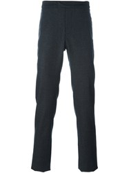 Les Hommes Straight Leg Trousers Grey