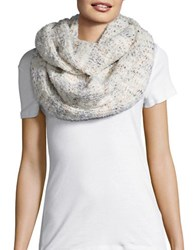 Echo Wool Blend Boucle Infinity Scarf White