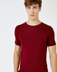 Only And Sons Mood Muscle O Neck T Shirt Burgundy