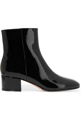 Gianvito Rossi Patent Leather Ankle Boots Black