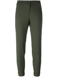 Etro Tapered Tailored Trousers Green