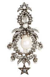Alexander Mcqueen Swarovski Crystal And Faux Pearl Hairpin