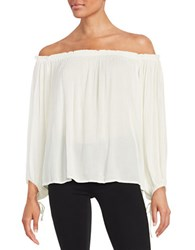 Jessica Simpson Abel Long Sleeve Off The Shoulder Top Whisper White