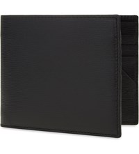 Canali Saffiano Leather Wallet Black