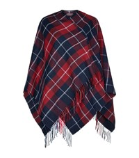 Claudie Pierlot Azelie Tartan Scarf Female Red