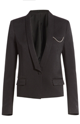The Kooples Tailored Blazer With Chain Embellishment