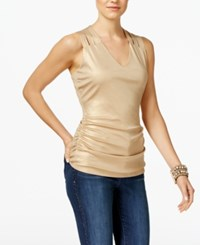 Inc International Concepts Metallic Lattice Back Tank Top Only At Macy's Gold