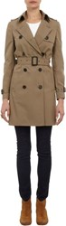 Barneys New York Double Breasted Trench Coat Nude