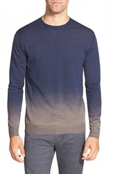 French Connection 'Aston' Slim Fit Dip Dye Knit Sweater Marine Blue Alloy