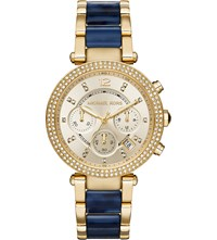 Michael Kors Mk6238 Parker Yellow Gold Plated And Enamel Watch