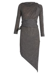 Vivienne Westwood Arro Long Sleeved Wool Dress Grey