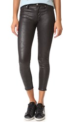 7 For All Mankind Faux Leather Skinny Pants Black