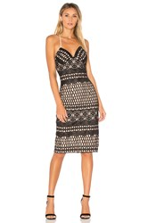 Aijek Caroline Embroidered Pencil Dress Black