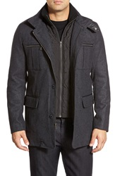 Cole Haan Wool Blend Jacket Charcoal