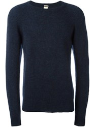 Massimo Alba 'Stipe' Crew Neck Jumper Blue