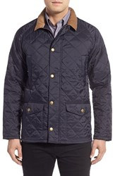 Barbour Men's 'Canterdale' Water Resistant Diamond Quilted Jacket Navy
