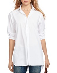 Polo Ralph Lauren Cotton Broadcloth Tunic White