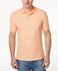 Club Room Men's Big And Tall Feeder Stripe Polo Only At Macy's Soft Apricot