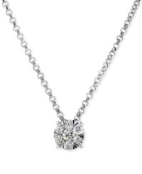 Effy Final Call Diamond Cluster Pendant Necklace 1 4 Ct. T.W. In 14K White Gold