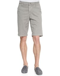 Alexa Chung For Ag Griffin Flat Front Shorts Dark Gray