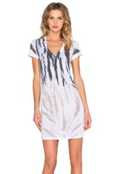 Saint Grace Cap Sleeve Shirred Mini Dress White