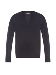 Tomas Maier V Neck Fine Knit Wool Cardigan